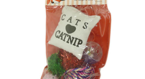 Christmas Cat Stocking Set Toys