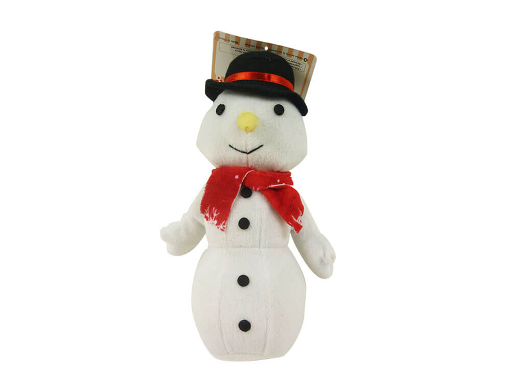 Holiday Snowman Dog Toy