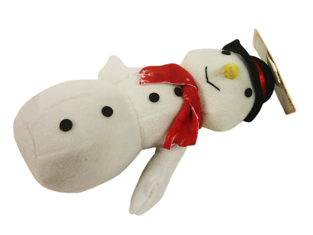 Christmas Toys Product : Holiday snowman dog toy inlong