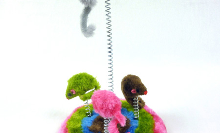 Plush Stand Toy Mice Cat Island