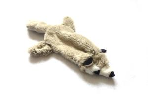 Plush Raccoon Stuffing Free Soft Dog Toys