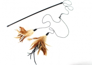 Replacement Natural Feathers Cat Rod Toy