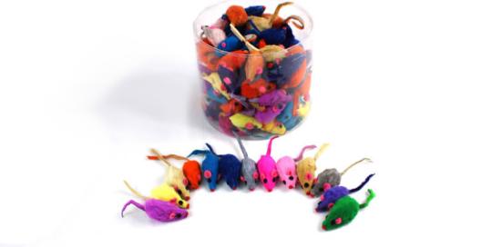 Furry Mice Kitten Toy