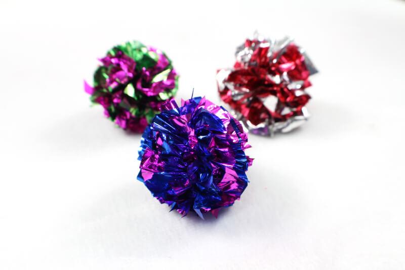 Rustling Foil Balls Cat Toy