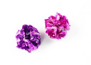 Crinkle Foil&Lace Balls Cat Toy