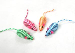 Striped Rope Mice Kitten Toy with Little Rocks Inside