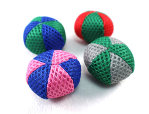 Colorful Mesh Soft Catnip Kitten Toy Ball