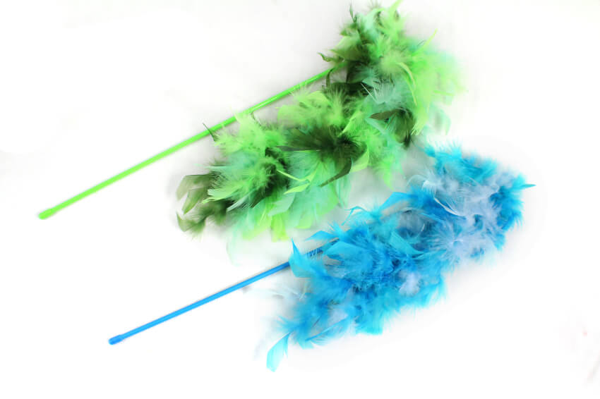 Bright Long Feather Teaser Wand