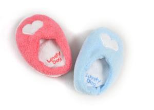 Cute Slippers Soft Plush Squeak Dog Toys