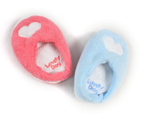 Cute Slippers Soft Plush Squeak Dog Toys