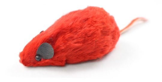 Real Fur Squeaky Mouse Cat Toy