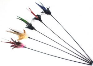 Pheasant Feather Cat Play Toy