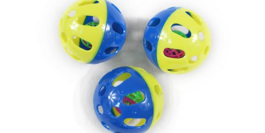 Plastic Perforated Ball within A Small Ball Cat Toy